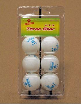 Imagen de Pelotas Donnay Ping Pong x 6 - 3 ★★★ Blancas