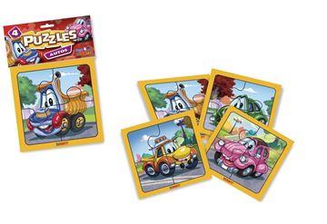 Imagen de 4 Puzzles 4 piezas - Autos