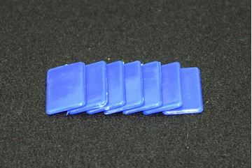 Imagen de Fichas rectangulares 20 x 40mm x 100 Unidades AZULES