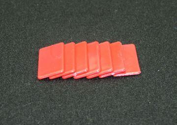 Imagen de Fichas rectangulares 20 x 40mm x 100 Unidades ROJAS
