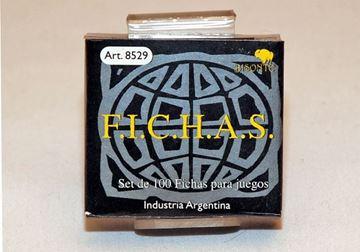 Imagen de Fichas Plasticas 12,5 Mm. X 100 U. Negras
