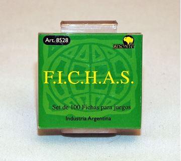 Imagen de Fichas Plasticas 12,5 Mm. X 100 U. Verdes