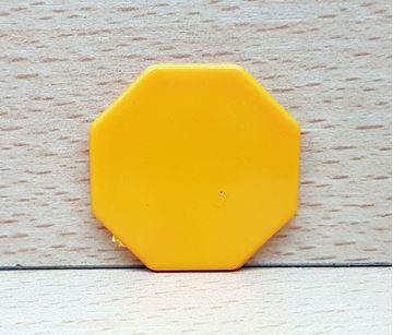 Imagen de Fichas octogonales 35mm x 100 Unidades AMARILLAS