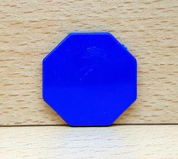 Imagen de Fichas octogonales 35mm x 100 Unidades AZULES