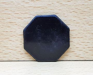 Imagen de Fichas octogonales 35mm x 100 Unidades NEGRAS