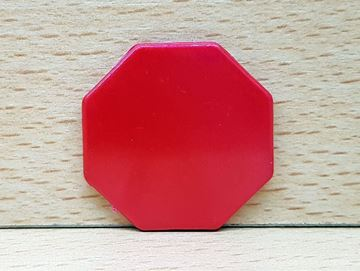 Imagen de Fichas octogonales 35mm x 100 Unidades ROJAS