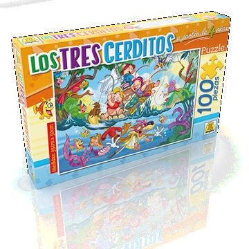 Imagen de Puzzle x 100 Piezas - Los tres Cerditos