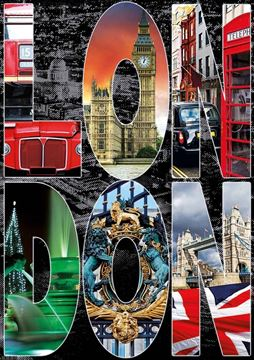 Imagen de Puzzle 1000 Piezas - Collage de Londres