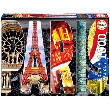 Imagen de Puzzle 1000 Piezas - Collage de Paris