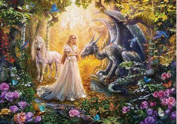 Imagen de Puzzle 1500 Piezas - Dragon, Princesa y Unicornio