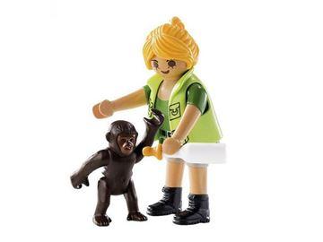 Imagen de Playmobil 9074 - Cuidadora con bebe gorila